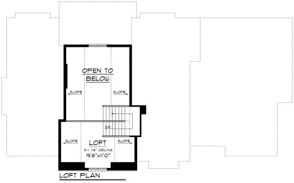 Cottage Floor Plan - Upper Floor Plan Plan #70-1180