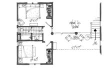 Log Floor Plan - Upper Floor Plan Plan #942-23