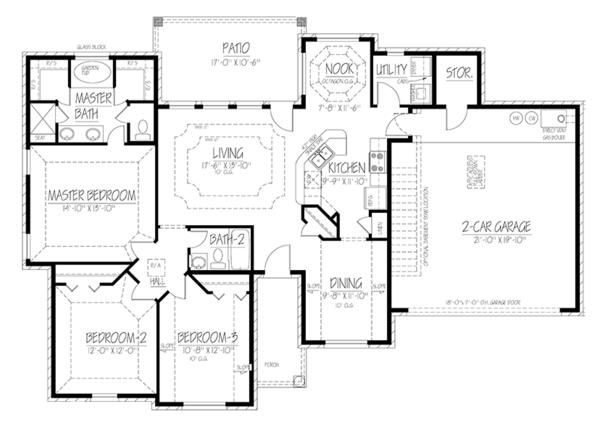Traditional Floor Plan - Main Floor Plan Plan #1061-9