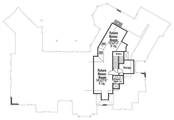 European Floor Plan - Upper Floor Plan #310-664