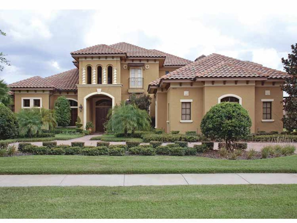 Mediterranean style house plan 5 beds 5 baths 5812 sq ft for Www homeplans com