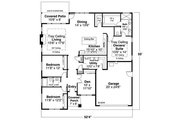 Prairie Floor Plan - Main Floor Plan #124-1173