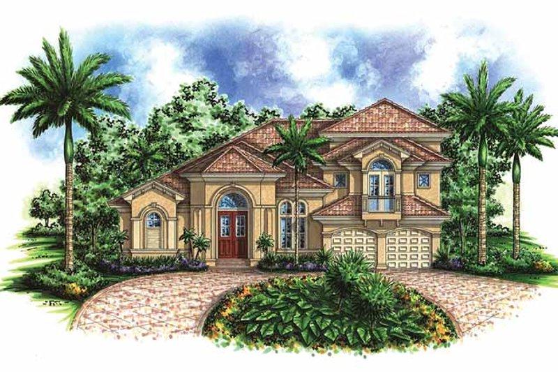 Dream House Plan - Mediterranean Exterior - Front Elevation Plan #1017-34