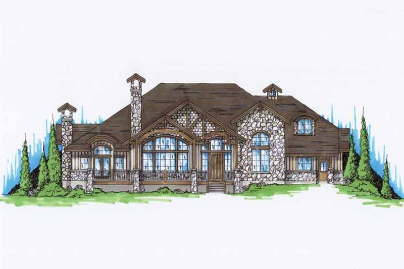 Traditional Exterior - Front Elevation Plan #945-73 - Houseplans.com