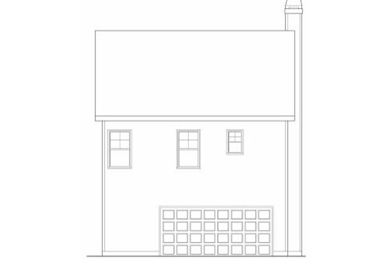 Craftsman Exterior - Rear Elevation Plan #419-167 - Houseplans.com