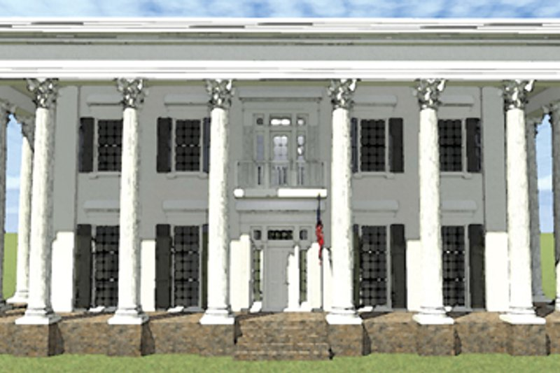 Classical Exterior - Front Elevation Plan #64-321 - Houseplans.com