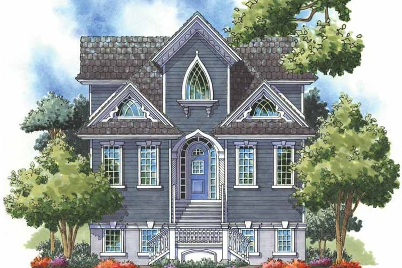 Architectural House Design - Craftsman Exterior - Front Elevation Plan #930-151
