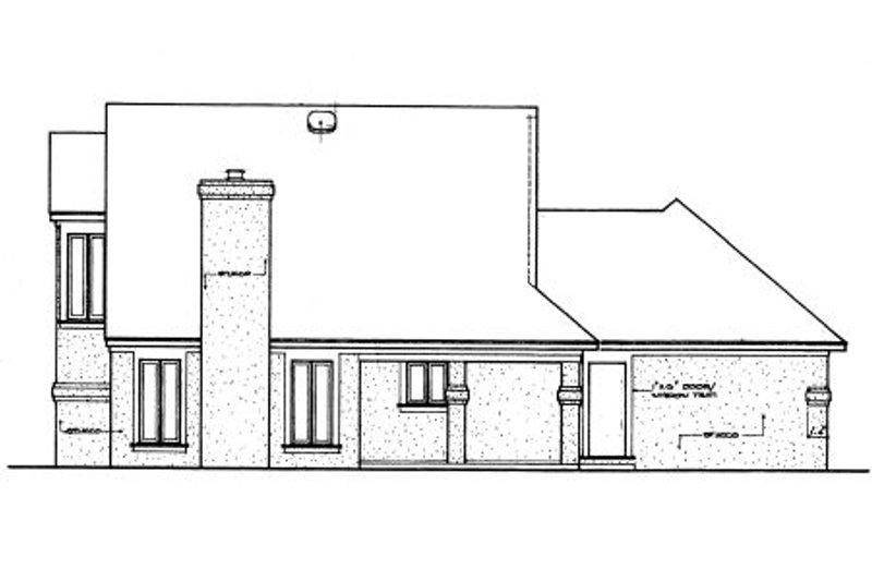 Traditional Exterior - Rear Elevation Plan #45-324 - Houseplans.com
