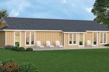 Architectural House Design - Ranch Exterior - Rear Elevation Plan #45-535
