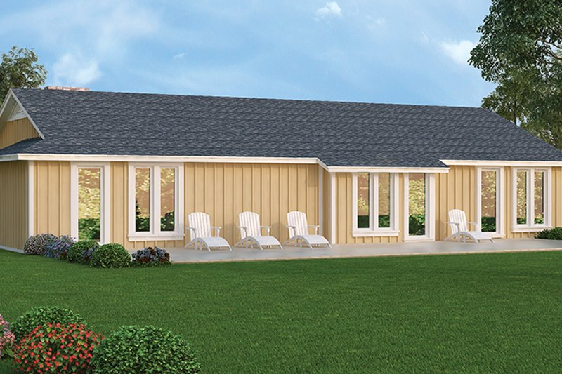 Ranch Exterior - Rear Elevation Plan #45-535 - Houseplans.com