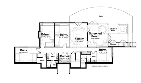 Craftsman Floor Plan - Lower Floor Plan Plan #928-252