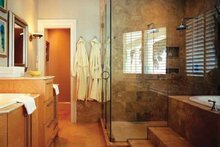 House Design - Mediterranean Interior - Master Bathroom Plan #930-70