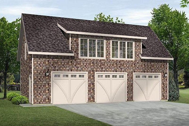 Traditional Style House Plan - 0 Beds 0 Baths 742 Sq/Ft Plan #22-541 Exterior - Front Elevation