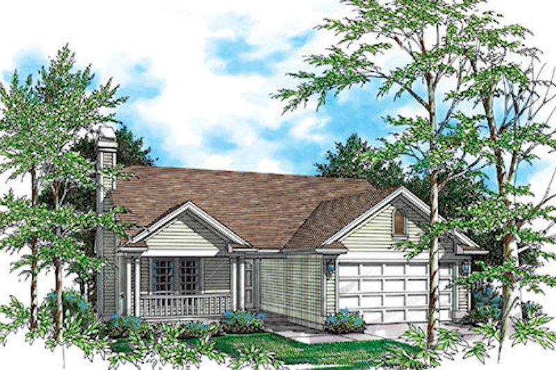Country Exterior - Front Elevation Plan #48-405