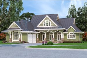 Ranch Exterior - Front Elevation Plan #45-578