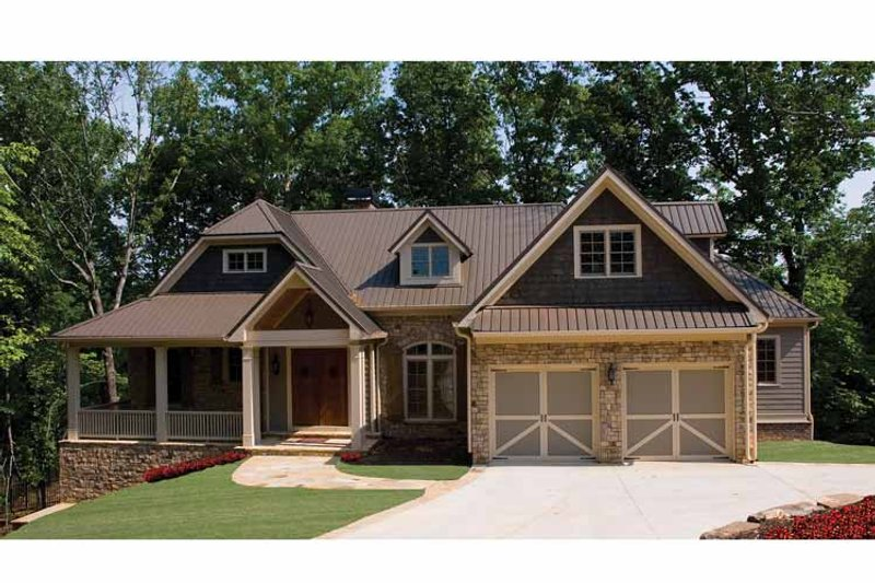 House Plan Design - Country Exterior - Front Elevation Plan #54-367