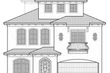 Architectural House Design - Mediterranean Exterior - Front Elevation Plan #1021-15