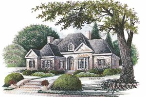 House Plan Design - Country Exterior - Front Elevation Plan #429-70