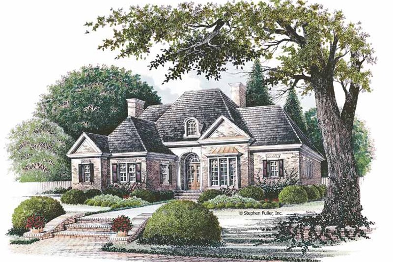 Country Exterior - Front Elevation Plan #429-70 - Houseplans.com