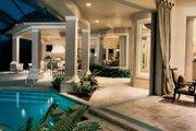 Mediterranean Style House Plan - 3 Beds 3.5 Baths 4255 Sq/Ft Plan #930-188 Exterior - Rear Elevation