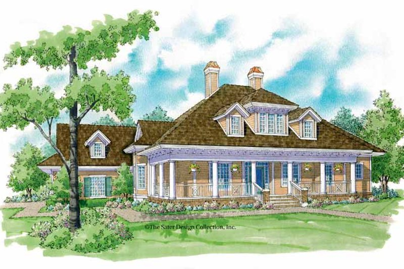 Country Exterior - Front Elevation Plan #930-239