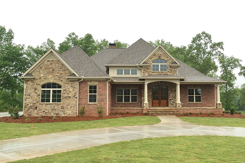 Country Exterior - Front Elevation Plan #437-72 - Houseplans.com