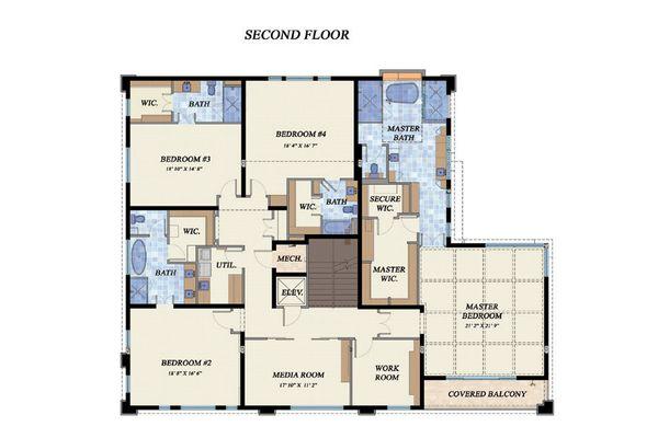 Beach Floor Plan - Upper Floor Plan Plan #548-12