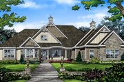 European Style House Plan - 5 Beds 4 Baths 3222 Sq/Ft Plan #929-1020 Exterior - Front Elevation
