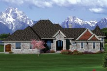 Dream House Plan - Ranch Exterior - Front Elevation Plan #70-1061
