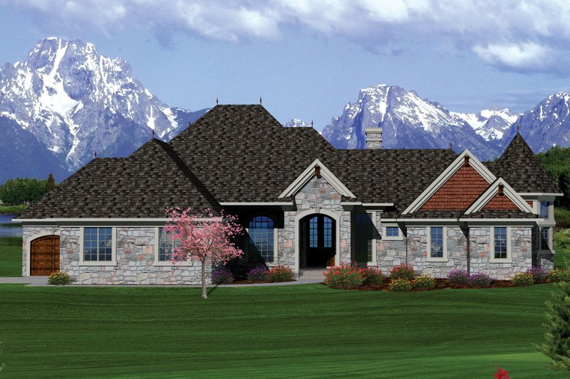 Ranch Exterior - Front Elevation Plan #70-1061
