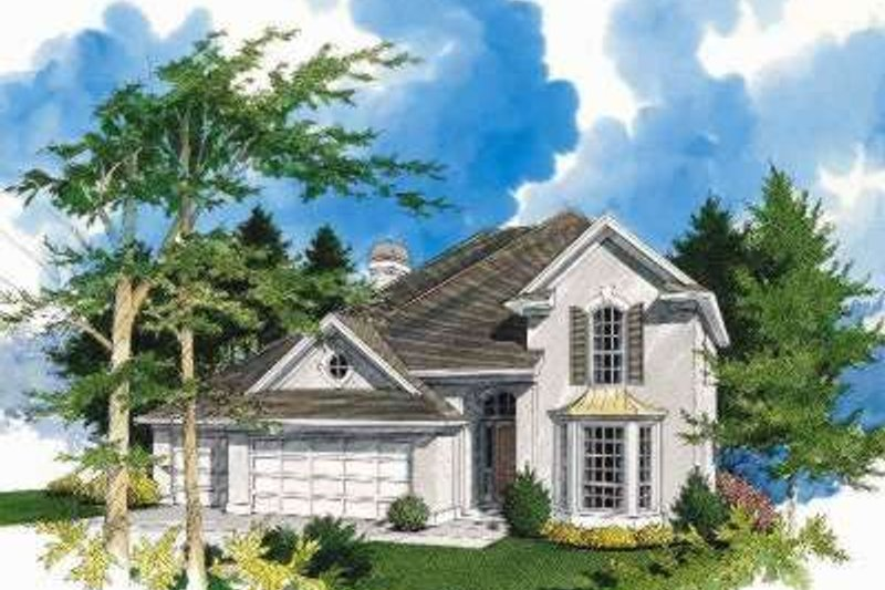 Traditional Exterior - Front Elevation Plan #48-138
