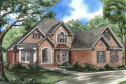 Traditional Style House Plan - 3 Beds 3.5 Baths 2949 Sq/Ft Plan #17-2025 Exterior - Front Elevation