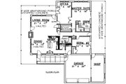 Country Style House Plan - 3 Beds 2 Baths 2008 Sq/Ft Plan #117-266 Floor Plan - Main Floor