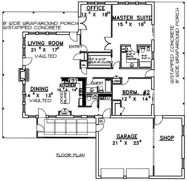 Country Floor Plan - Main Floor Plan #117-266