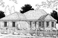 Home Plan Design - Traditional Exterior - Front Elevation Plan #20-368
