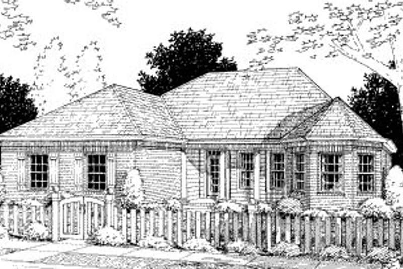 Traditional Exterior - Front Elevation Plan #20-368
