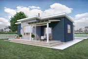 Modern Style House Plan - 2 Beds 1 Baths 1000 Sq/Ft Plan #924-10 Exterior - Rear Elevation