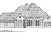 Traditional Style House Plan - 3 Beds 2.5 Baths 2512 Sq/Ft Plan #70-404 Exterior - Rear Elevation