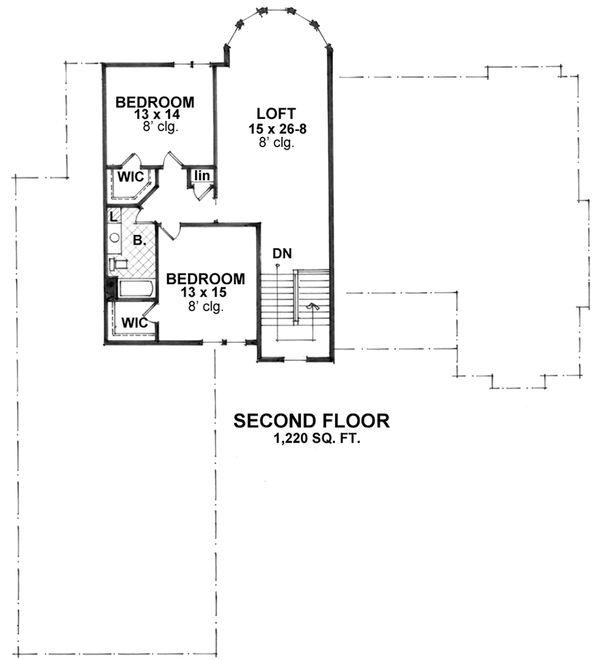 Craftsman Floor Plan - Upper Floor Plan Plan #51-562