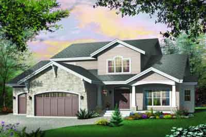 Dream House Plan - Traditional Exterior - Front Elevation Plan #23-539