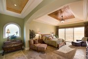 Mediterranean Style House Plan - 4 Beds 4.5 Baths 4730 Sq/Ft Plan #548-2 Interior - Master Bedroom