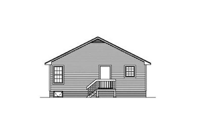 Cottage Exterior - Rear Elevation Plan #57-120 - Houseplans.com