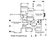 Craftsman Style House Plan - 3 Beds 3 Baths 2487 Sq/Ft Plan #120-179 Floor Plan - Main Floor