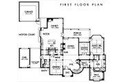 European Style House Plan - 4 Beds 5.5 Baths 5900 Sq/Ft Plan #449-3 Floor Plan - Main Floor Plan