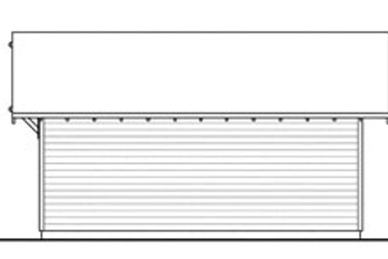 Traditional Exterior - Rear Elevation Plan #124-637 - Houseplans.com