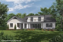Home Plan - Country Exterior - Rear Elevation Plan #930-469