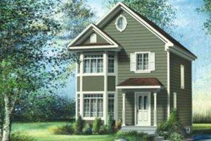 Traditional Exterior - Front Elevation Plan #25-4052