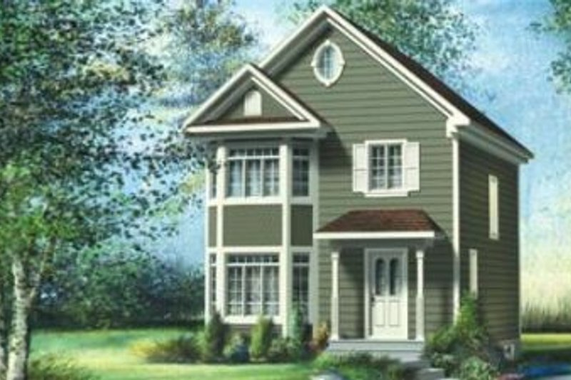 Traditional Style House Plan - 3 Beds 1.5 Baths 1352 Sq/Ft Plan #25-4052 Exterior - Front Elevation