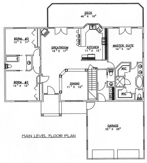 Floor Plan - Main Floor Plan Plan #117-532