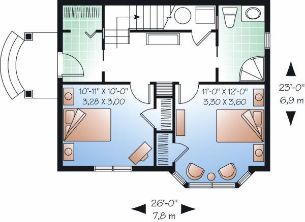 Traditional Floor Plan - Main Floor Plan Plan #23-874